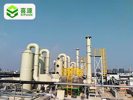 蘇州盛榮項目洗滌塔活性炭現場圖